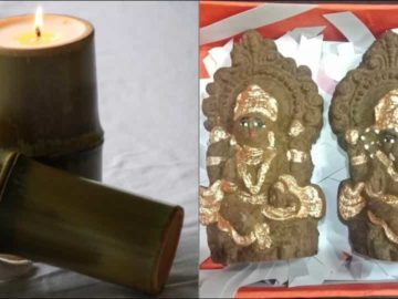Go eco-friendly with cow dung diya, bamboo candles this Diwali