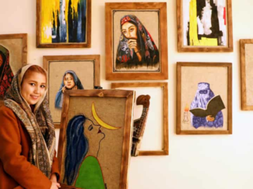 Panahi, 21, set up the Namad Gallery at the height of the coronavirus pandemic in September.