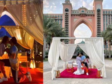 Neha Kakkar and Rohanpreet Singh during their honeymoon in Dubai.