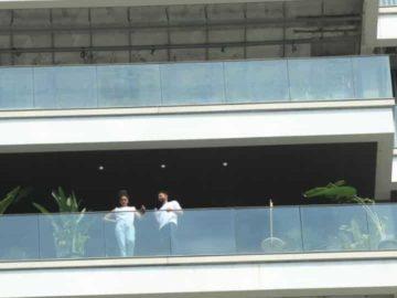 Deepika Padukone and Siddhant Chaturvedi in Mumbai.