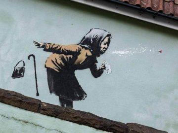 Sneezing Granny by Banksy