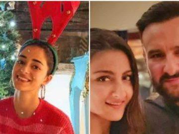 Ananya Panday and Soha Ali Khan were among the many Bollywood celebs who posted Christmas messages on social media.