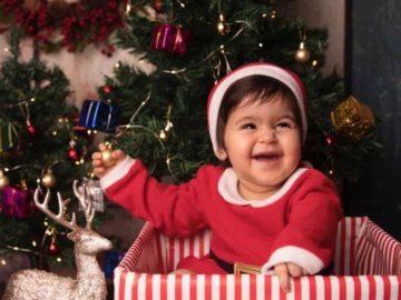 Kapil Sharma's daughter Anayra got dressed up for Christmas.