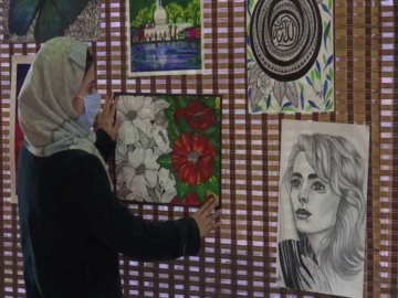 Jammu and Kashmir Tourist Development Corporation(JKTDC) h organised an art exhibition on Wednesday, to empower young women artists.