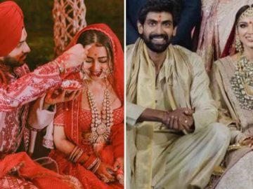 From Neha Kakkar-Rohanpreet Singh to Rana Daggubati-Miheeka Bajaj, 2020 saw a number of celebrity weddings.