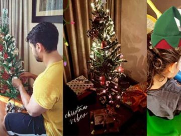 Inaaya Naumi Kemmu and Kunal Kemmu prep for Christmas.
