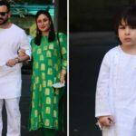 Saif Ali Khan and Kareena Kapoor Khan with their son, Taimur.