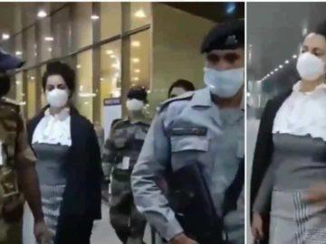 Kangana Ranaut has returned to Mumbai.