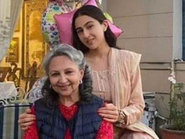 Sara Ali Khan poses with Sharmila Tagore.