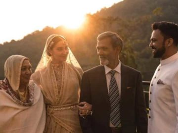 AliAbbas Zafar with his wife,Alicia and his parents.