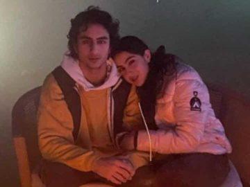 Ibrahim Ali Khan and Sara Ali Khan at their New Year getaway.